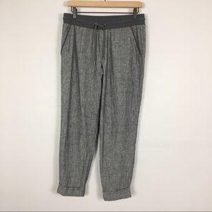Athleta Linen Bali Ankle Pants In Gray